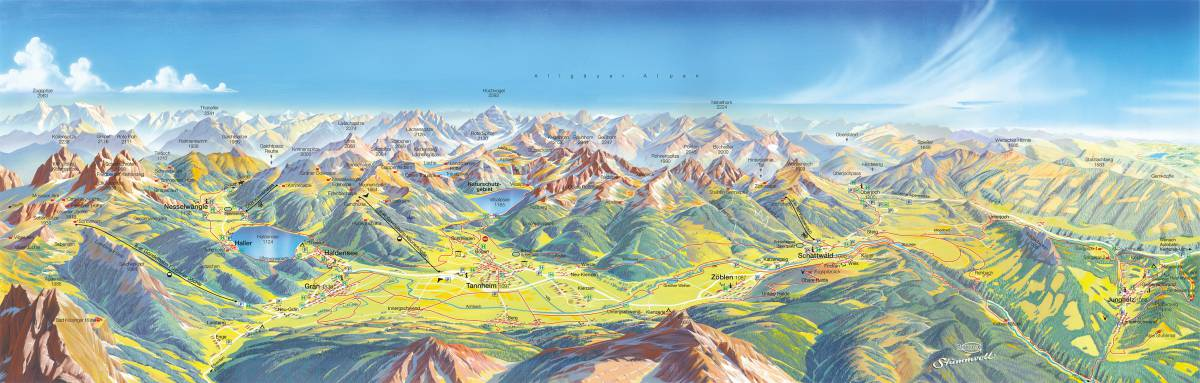 Tannheimer Tal Karte